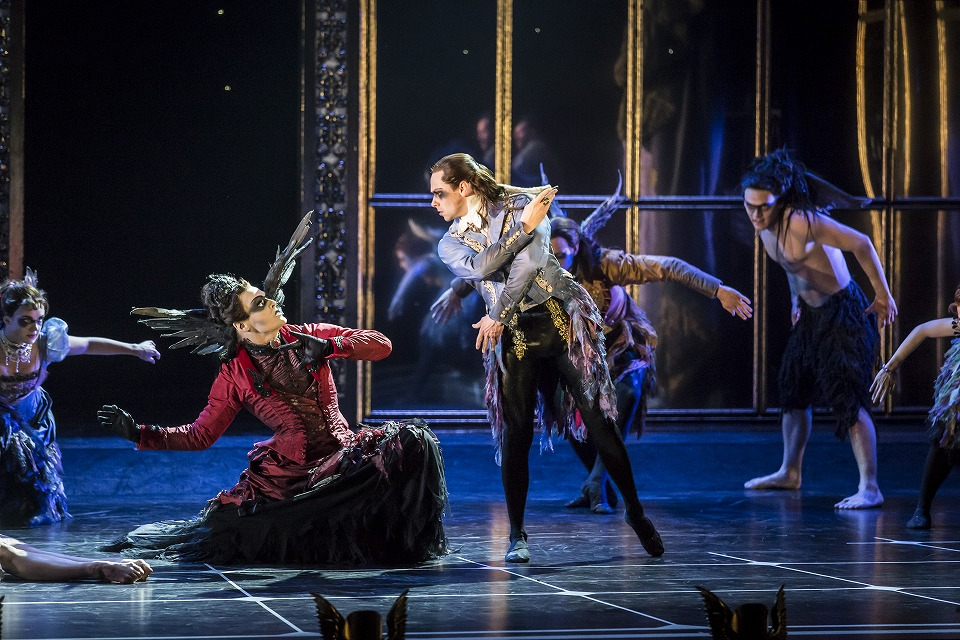 Matthew Bourne's SLEEPING BEAUTY. Adam Maskell (Carabosse) and Christopher Marney (Count Lilac). Photo by Johan Persson